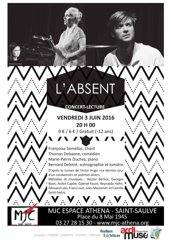 """Concert-lecture : """"L'Absent"""" - Ardimuse @ MJC Espace Athena   Saint-Saulve   France"""