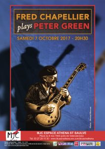 Fred Chapellier plays Peter Green @ MJC Espace Athena | Saint-Saulve | Hauts-de-France | France